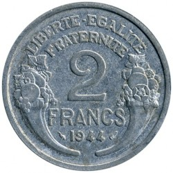 Coin > 2 francs, 1944 - France  - obverse