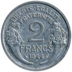 Coin > 2francs, 1944 - France  (REPUBLIQUE FRANÇAISE: Aluminium) - reverse