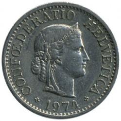 Coin > 10rappen, 1974 - Switzerland  - obverse