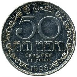 Monēta > 50centu, 1996-2004 - Šrilanka  - reverse