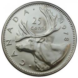 Mynt > 25cents, 1968-1978 - Canada  - reverse