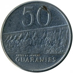 Coin > 50 guaranies, 1980-1988 - Paraguay  - obverse