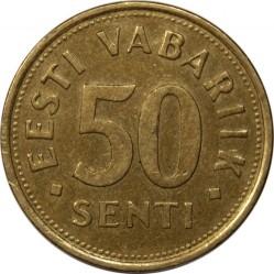 Minca > 50senti, 1992-2007 - Estónsko  - reverse