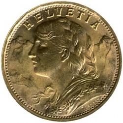 錢幣 > 20法郎, 1897-1949 - 瑞士  - obverse