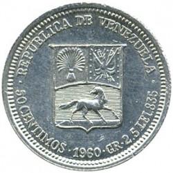 Νόμισμα > 50Σεντίμος, 1960 - Βενεζουέλα  - obverse