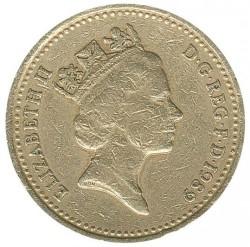 Mynt > 1pund, 1989 - Storbritannia  - obverse