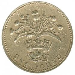 Mynt > 1pund, 1989 - Storbritannia  - reverse