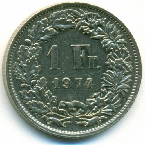 1 fr 1974 года цена вейгела монет фото