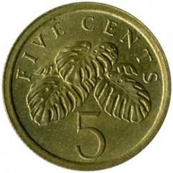 Münze > 5Cent, 1985-1991 - Singapur   - reverse