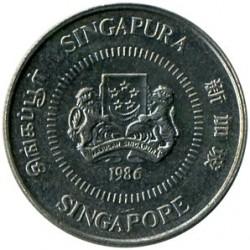 Münze > 10Cent, 1985-1991 - Singapur   - obverse