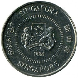 Монета > 10центов, 1985-1991 - Сингапур  - reverse