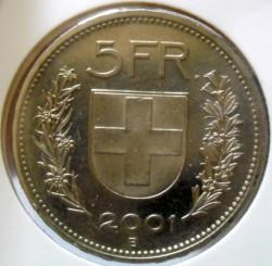 Moneta > 5franków, 2001 - Szwajcaria  - reverse