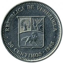 Moneta > 50sentimų, 1965-1985 - Venesuela  - obverse