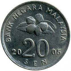 Монета > 20сенов, 1989-2011 - Малайзия  - obverse