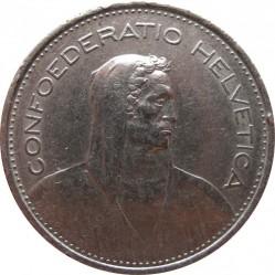 Coin > 5francs, 1968 - Switzerland  - obverse