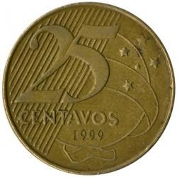 Moneta > 25centavos, 1998-2017 - Brazylia  - obverse