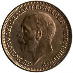 Монета > 1фартинг, 1926-1936 - Великобритания  - obverse