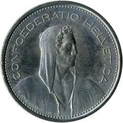 Moneta > 5franków, 1980 - Szwajcaria  - obverse