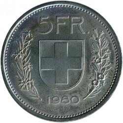 Moneta > 5franków, 1980 - Szwajcaria  - reverse
