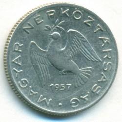Moeda > 10filler, 1957 - Hungria  - obverse