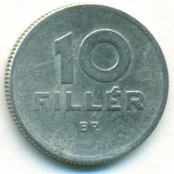 Moeda > 10filler, 1957 - Hungria  - reverse