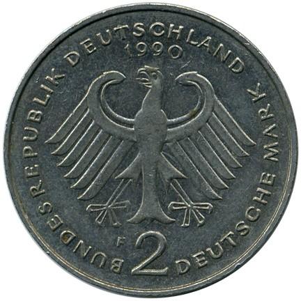 2 Mark 1988 2001 Ludwig Erhard Deutschland Münzen Wert Ucoinnet