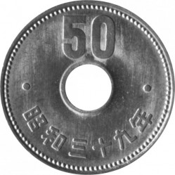 Coin > 50yen, 1959-1966 - Japan  - obverse