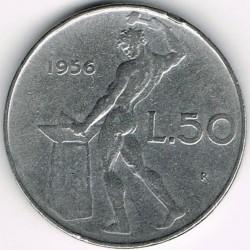 سکه > 50لیره, 1956 - ایتالیا  - reverse