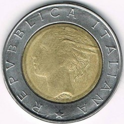 سکه > 500لیره, 1994 - ایتالیا  (500th Anniversary - Birth of Luca Pacioli) - obverse