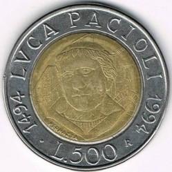 سکه > 500لیره, 1994 - ایتالیا  (500th Anniversary - Birth of Luca Pacioli) - reverse