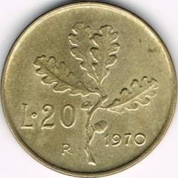 سکه > 20لیره, 1970 - ایتالیا  - reverse