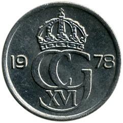 Mynt > 10ore, 1978 - Sverige  - obverse