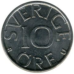 Mynt > 10ore, 1978 - Sverige  - reverse