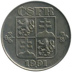 Moneda > 2coronas, 1991-1992 - Checoslovaquia  - obverse