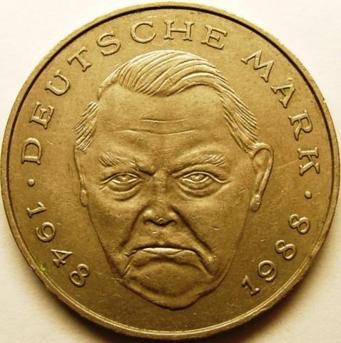2 Mark 1995 Ludwig Erhard Deutschland Münzen Wert Ucoinnet