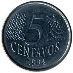 Moeda > 5centavos, 1994-1997 - Brasil  - reverse