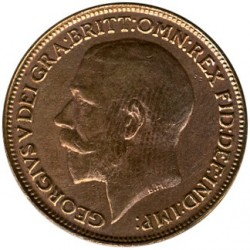 Coin > 1 farthing, 1922 - United Kingdom  - obverse