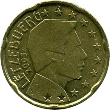20 Eurocent 2002 2006 Luxemburg Münzen Wert Ucoinnet