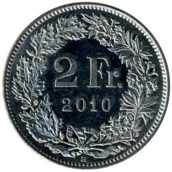 Moneda > 2francos, 1968-2019 - Suiza  - reverse