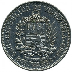Münze > 2Bolivares, 1989-1990 - Venezuela  - reverse