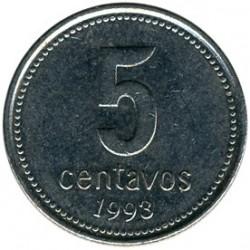 Moneda > 5centavos, 1993-1995 - Argentina  - reverse