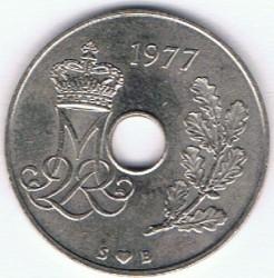 Moneta > 25ore, 1973-1988 - Dania  - obverse