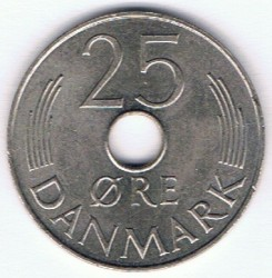 Moneta > 25ore, 1973-1988 - Dania  - reverse