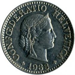 Coin > 10rappen, 1938 - Switzerland  - obverse