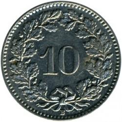 Coin > 10rappen, 1938 - Switzerland  - reverse