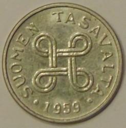 Münze > 1Mark, 1959 - Finnland  - obverse