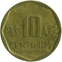 Pièce > 10céntimos, 2001-2018 - Pérou  - reverse