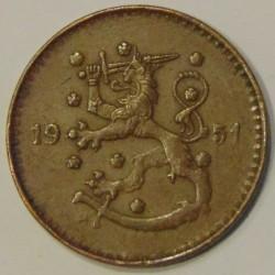 Münze > 1Mark, 1951 - Finnland  (Copper /brown color/) - obverse