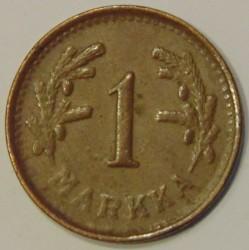 Münze > 1Mark, 1951 - Finnland  (Copper /brown color/) - reverse