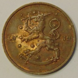 Münze > 10Penny, 1939 - Finnland  - reverse